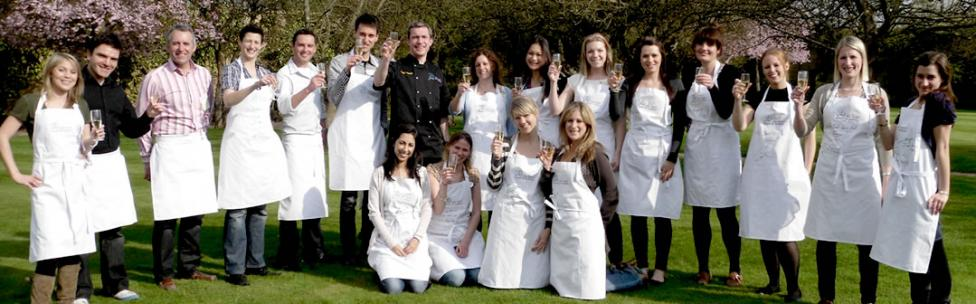 Franck with students at the Smart School of Cookery